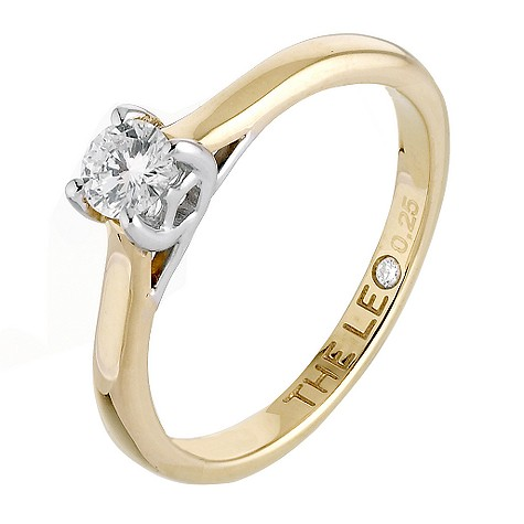 18ct gold quarter carat Leo Diamond solitaire ring
