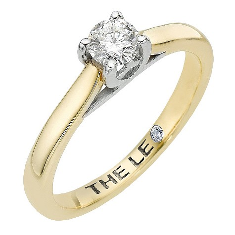 Leo 18ct yellow gold third carat certified diamond ring