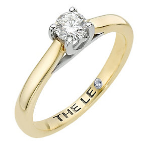 Leo Diamond 18ct yellow & white gold 0.33ct I-SI2 ring - Product number 6021522
