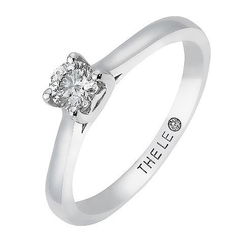 Quarter carat Leo Diamond platinum solitaire ring
