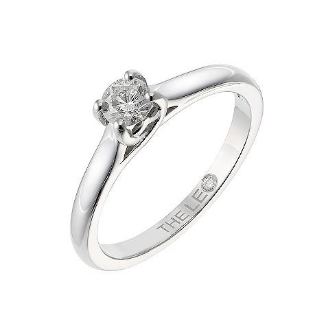 Platinum 33 point Leo Diamond solitaire ring