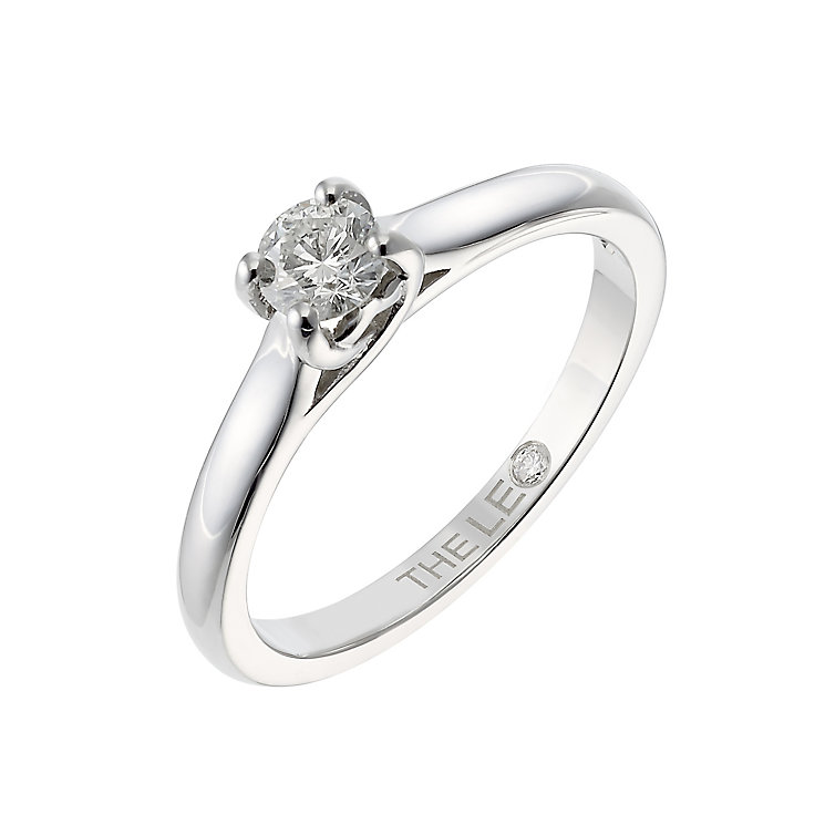 Leo Diamond platinum 0.33ct I-SI2 solitaire ring - Product number 6021794