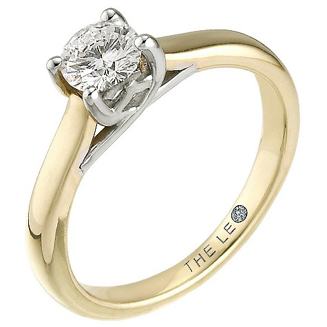 18ct gold half carat Leo Diamond solitaire ring