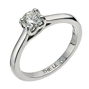 Leo Diamond platinum 0.50ct I-SI2 diamond solitaire ring - Product number 6022049