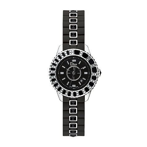 Dior Christal Ladies' black dial diamond watch