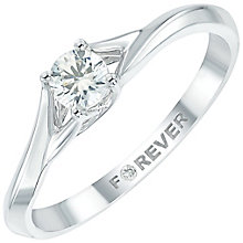 Forever Diamond 18ct White Gold 1/5ct Diamond Solitaire Ring - Product number 6024157