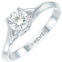 Forever Diamond 18ct White Gold Diamond Solitaire Ring - Product number 6024521