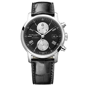 Baume & Mercier Classima men's black leather strap watch - Product number 6024785