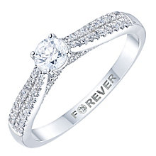 18ct White Gold 1/3 Carat Forever Diamond Ring - Product number 6025137