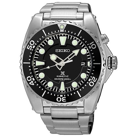 Seiko men's titanium kinetic bracelet watch