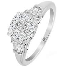 Princessa 9ct White Gold 0.50ct Diamond Cluster Ring - Product number 6027423
