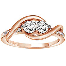 Ever Us 14ct rose gold 1/2 carat 2 stone diamond ring - Product number 6035256