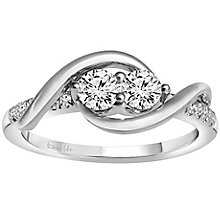 Ever Us 14ct white gold 1/2 carat 2 stone diamond ring - Product number 6035590