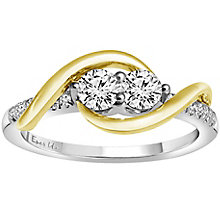 Ever Us 14ct Yellow & white gold 1/2 carat diamond ring - Product number 6035868