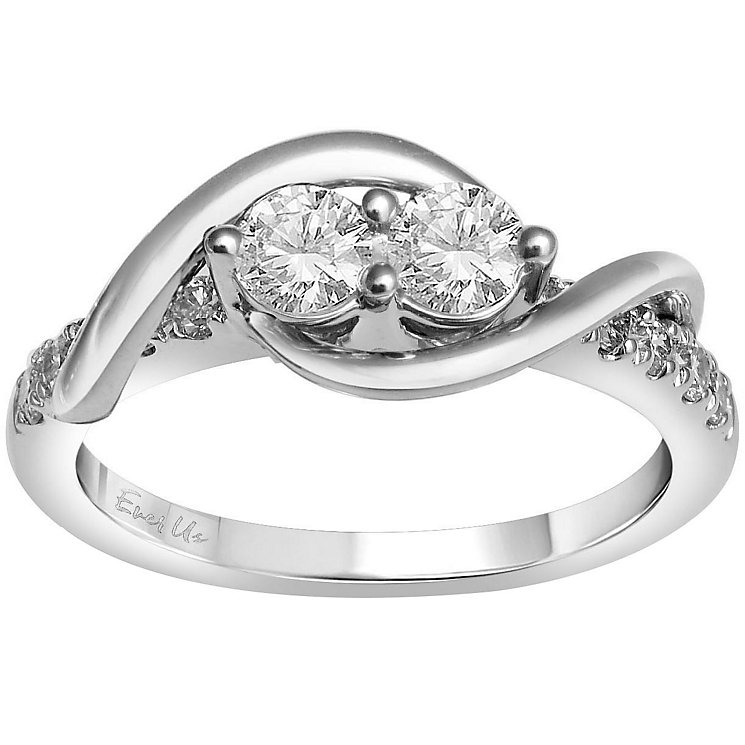 Ever Us 14ct white gold 3/4ct two stone diamond ring - Product number 6036155