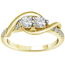 Ever Us 14ct yellow gold 3/4ct two stone diamond ring - Product number 6036295