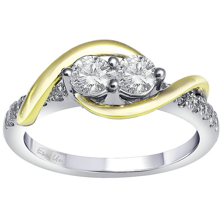 Ever Us 14ct yellow & white gold 3/4ct diamond ring - Product number 6036422