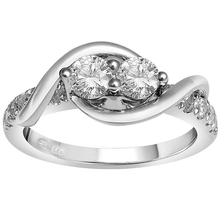 Ever Us 14ct white gold 1ct two stone diamond ring - Product number 6037348