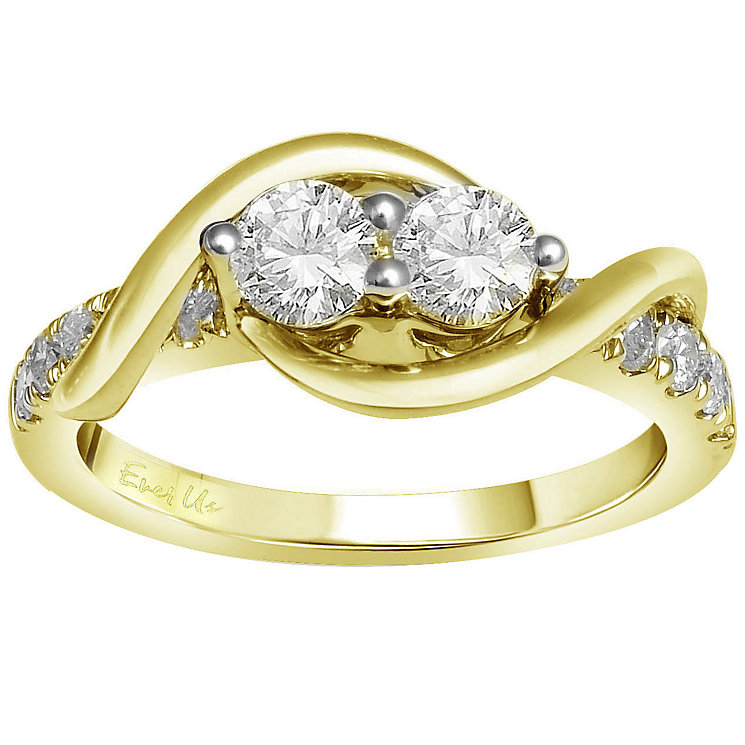 Ever Us 14ct yellow gold 1ct two stone diamond ring - Product number 6037860