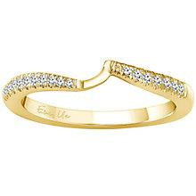 Ever Us 14ct yellow gold 0.12ct diamond shaped band - Product number 6038689