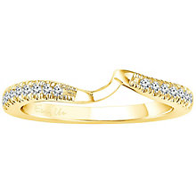 Ever Us 14ct yellow gold 1/5ct diamond shaped band - Product number 6039669