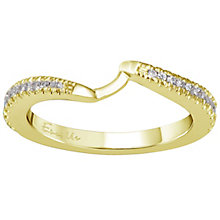 Ever Us 14ct yellow gold 1/4ct diamond shaped band - Product number 6040225