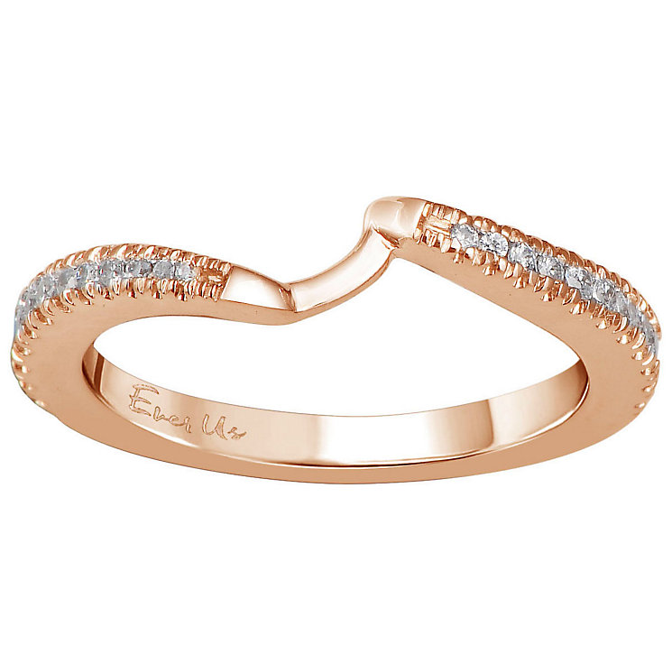 Ever Us 14ct rose gold 1/4ct diamond shaped band - Product number 6040357