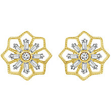 Emmy London 9ct Gold 1/5 Carat Diamond Flower Stud Earrings - Product number 6047785
