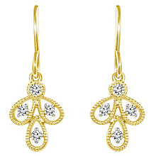 Emmy London 9ct Gold Diamond Set Drop Earrings - Product number 6047815