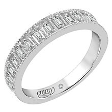 Emmy London Palladium 0.16 Carat Baguette Cut Diamond Ring - Product number 6047831