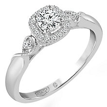 Emmy London Platinum 1/3 Carat Diamond Halo Ring - Product number 6048102