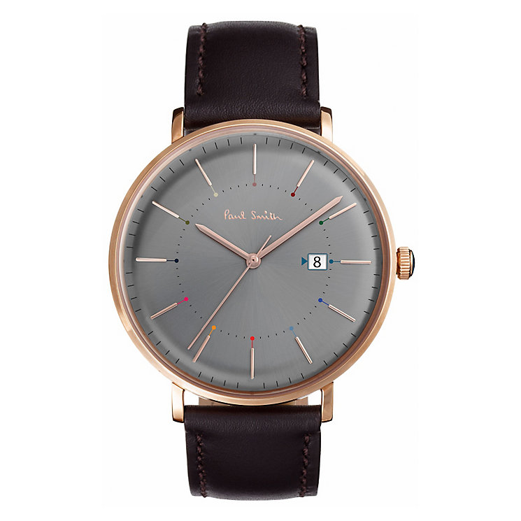 Paul Smith Track 41mm Men's Rose Gold Tone Strap Watch - Product number 6049192