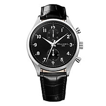 William L Small Chronograph Men's Leather Strap Watch - Product number 6050573