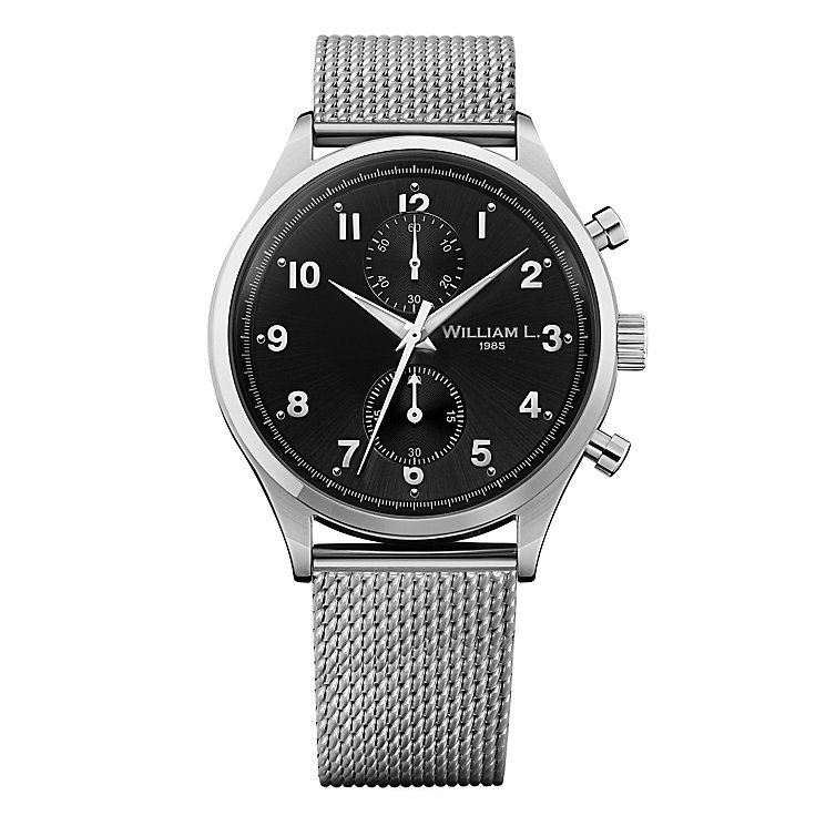 William L Small Chronograph Men's Bracelet Watch - Product number 6050581