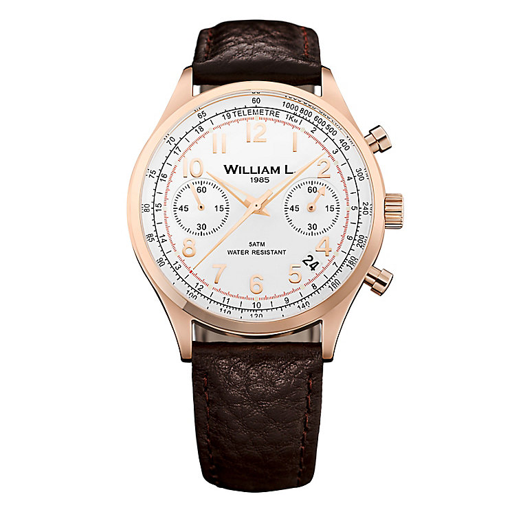 William L Vintage Chronograph Men's Rose Gold Plated Watch - Product number 6050808