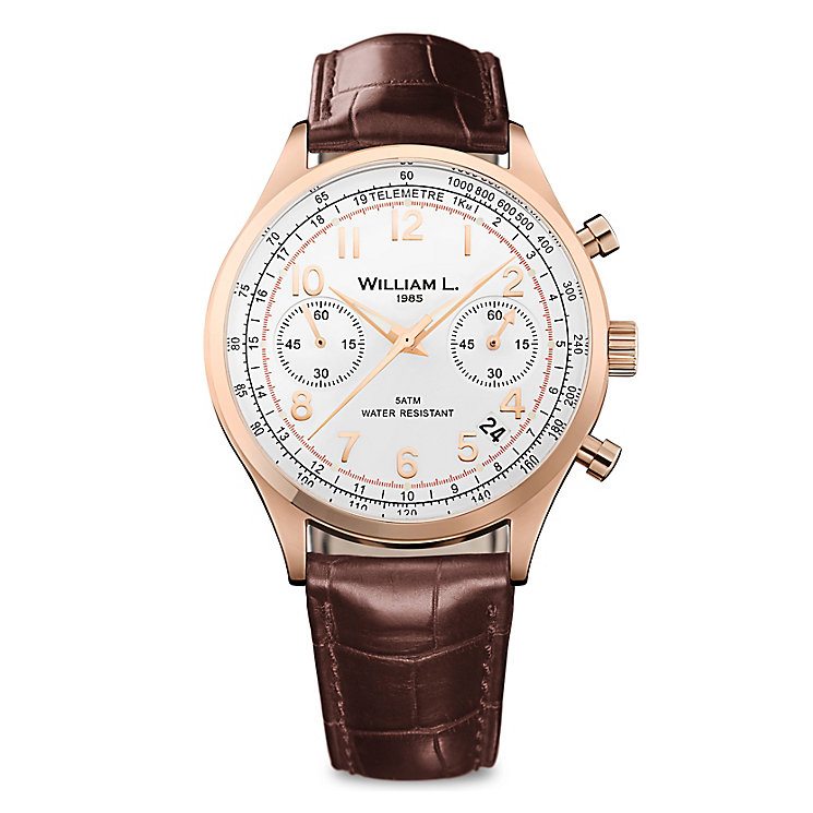 William L Vintage Chronograph Men's Rose Gold Plated Watch - Product number 6050816