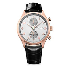 William L Small Chronograph Men's Rose Gold Plated Watch - Product number 6050859