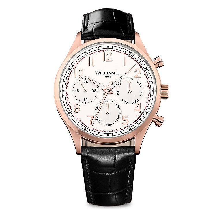 William L Vintage Calendar Men's Rose Gold Plated Watch - Product number 6050875