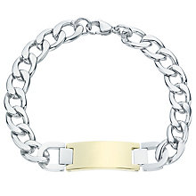 Stainless Steel & Gold Tone ID Bracelet - Product number 6053505