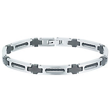 Stainless Steel & Black Ion-Plated Bracelet - Product number 6053513