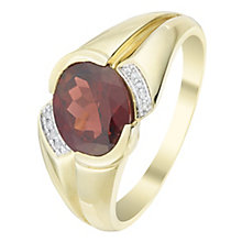 9ct Gold Garnet & Diamond Ring - Product number 6055737