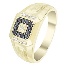 9ct Gold Black Sapphire & Diamond Ring - Product number 6056199