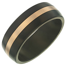 Black Titanium & Rose Gold 8mm Band - Product number 6058868