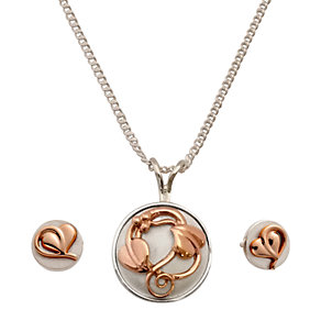 Clogau Gold 9ct Rose Gold Pendant and Earrings Set - Product number 6060587