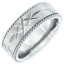 Titanium Diamond Cut Ring - Product number 6061761
