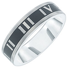 Titanium Roman Numeral Detail Ring - Product number 6061907