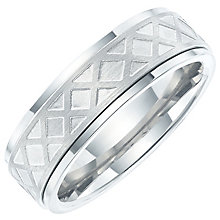Titanium Geometric Print Spinner Ring - Product number 6062563
