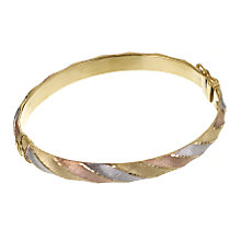 9ct Three Tone Gold Bangle - Product number 6067182
