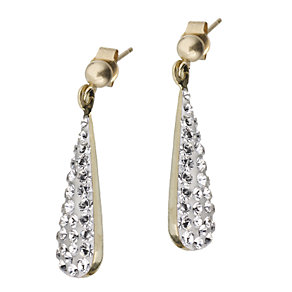 Evoke 9ct Gold Crystal Drop Earrings - Product number 6068286