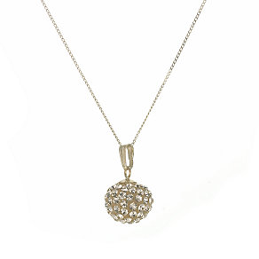 Evoke 9ct Gold Champagne Crystal Ball Pendant - Product number 6068367
